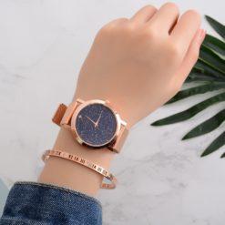 Lvpai Luxury Starry Steel Bracelet Casual Wristwatch