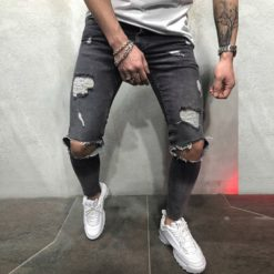 New Fashion Mens Jeans Skinny Stretch Denim