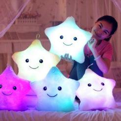 Luminous Colorful Star Cushion Glowing Pillow Plush