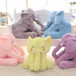Cute Stuffed Elephant Plush - Sleeping Back Cushion