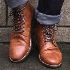 British Men's Autumn Winter Lace-up Boots