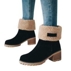 Women's Plush Slip-On Ankle Woolen Boots