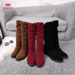 Women Sweet Stylish Flat Flock Snow Boots