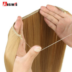 Long Fish Line Halo Invisible Wavy Hair Extension