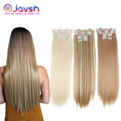 Straight Synthetic Clips-in Hair Extensions
